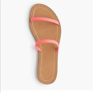 J. Crew Isla Sandal Hot Pink Size 7